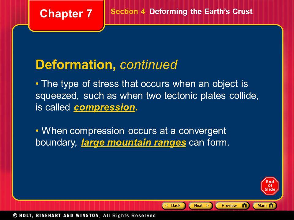Deformation, continued