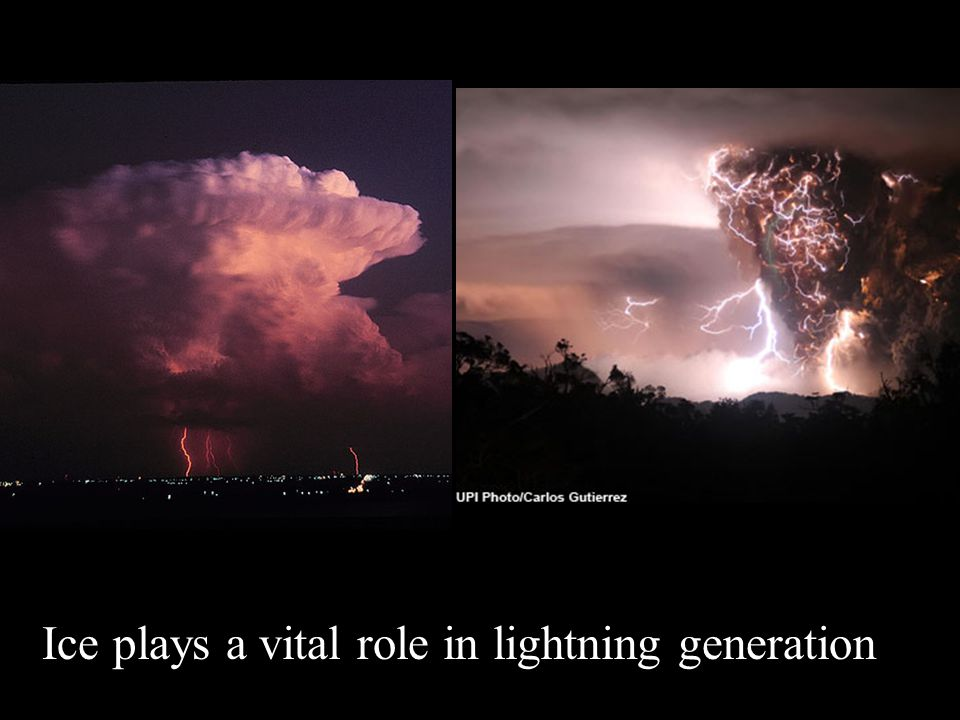 Ice plays a vital role in lightning generation