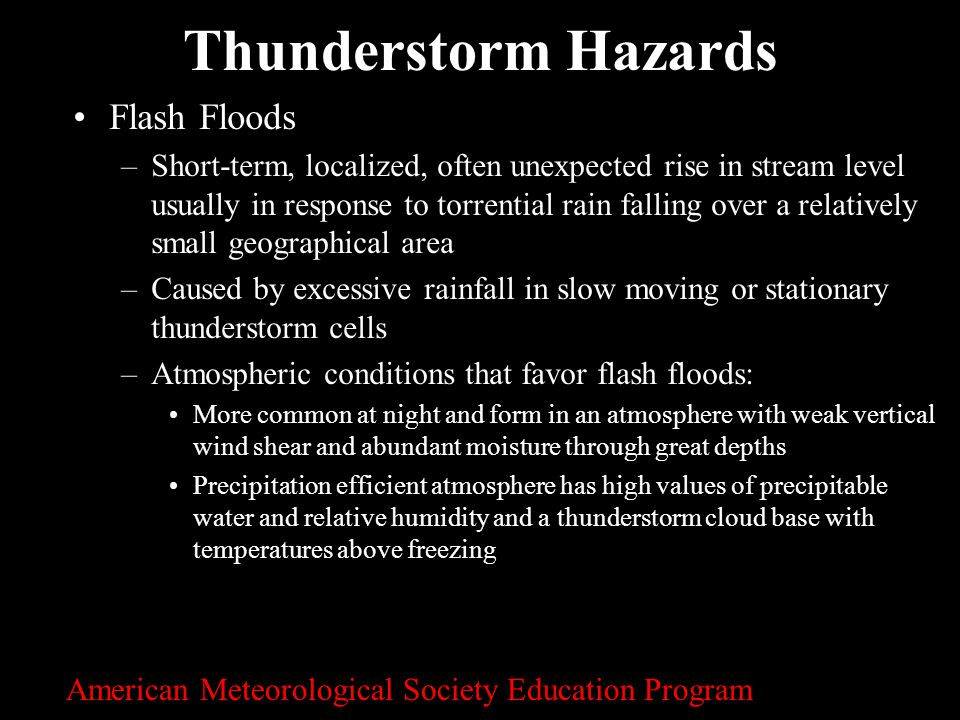 Thunderstorm Hazards Flash Floods
