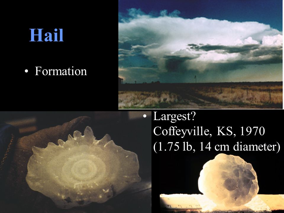 Hail Formation. Largest.