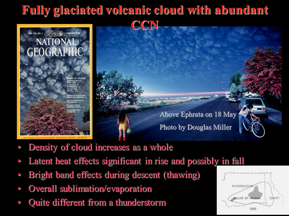 Fully glaciated volcanic cloud with abundant CCN