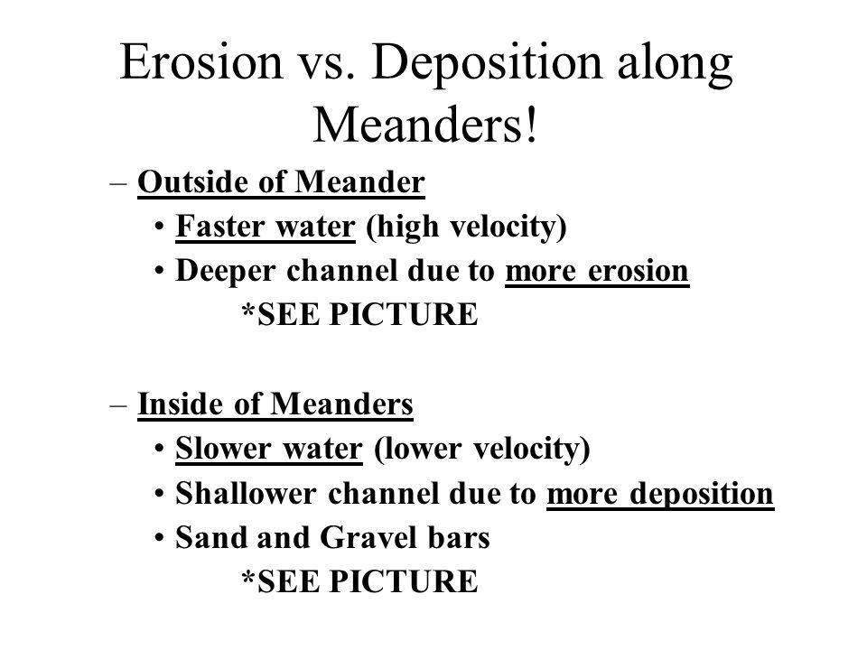 Erosion vs. Deposition along Meanders!