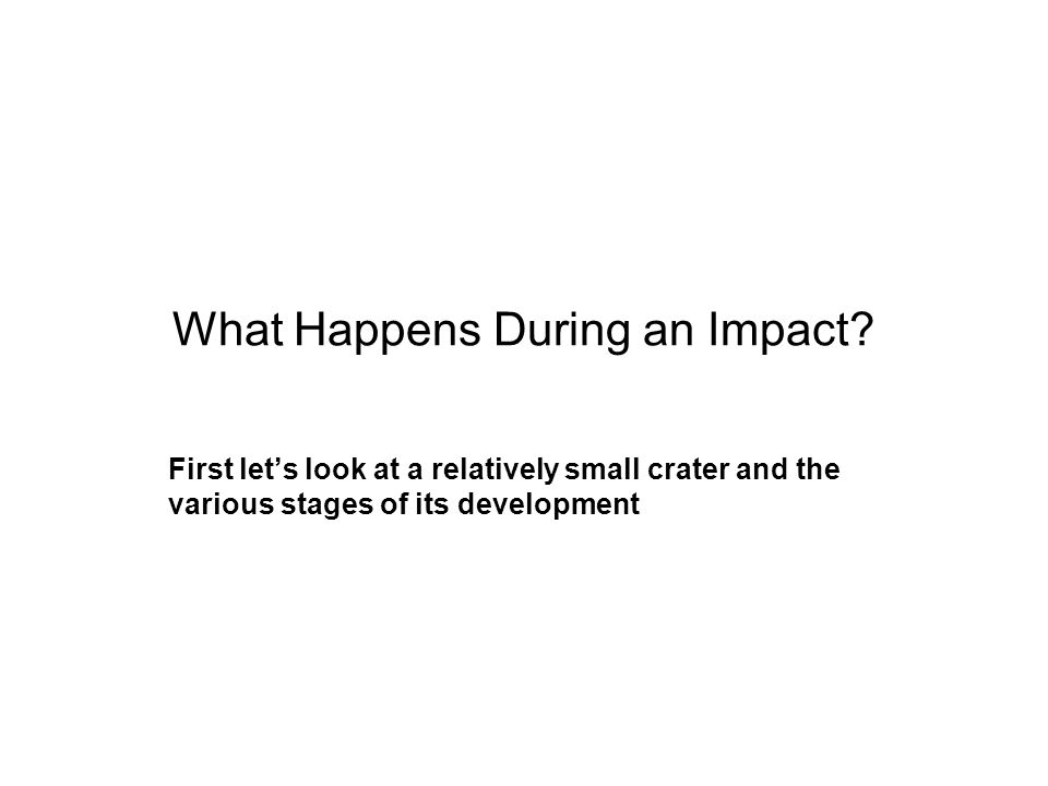 What Happens During an Impact