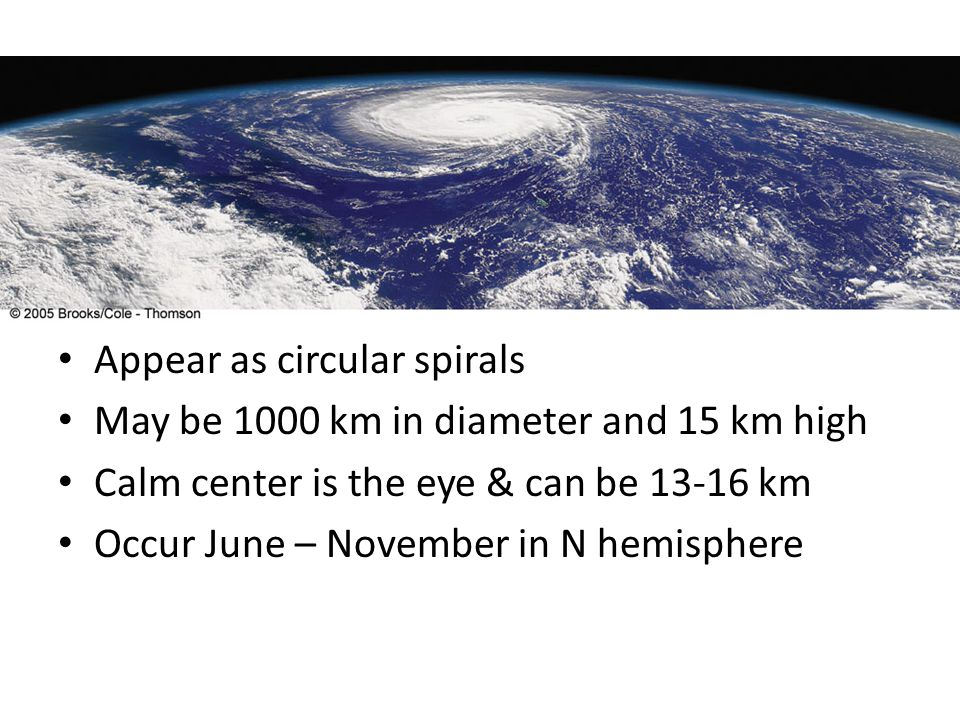 Appear as circular spirals