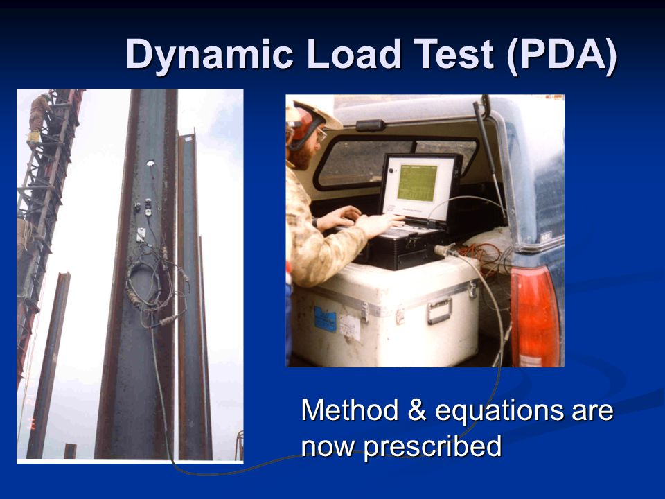 Dynamic Load Testing : Aashto lrfd section and ppt download