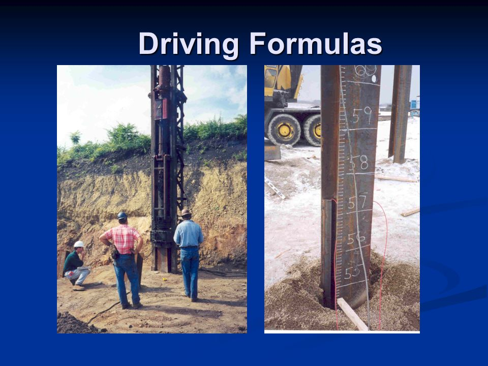 Driving Formulas