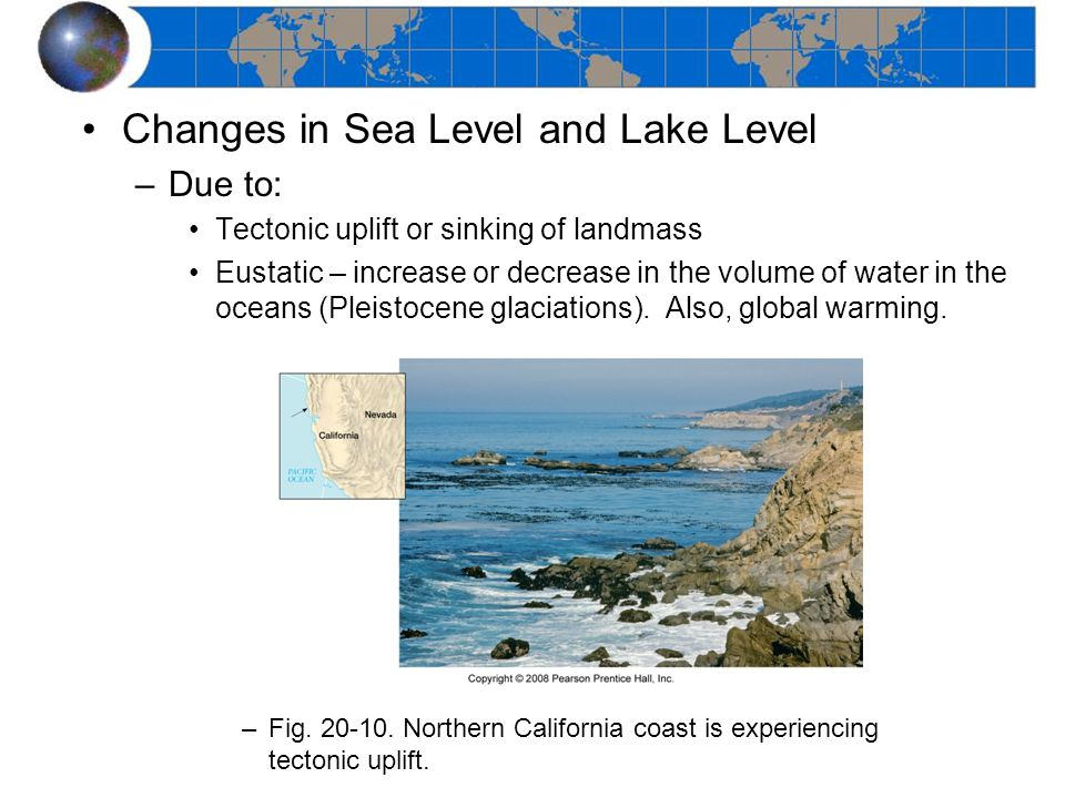 Changes in Sea Level and Lake Level
