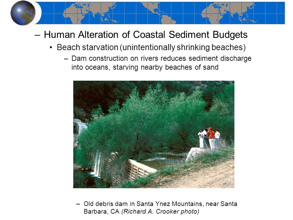 Human Alteration of Coastal Sediment Budgets