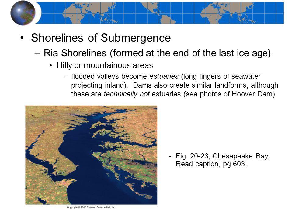 Shorelines of Submergence