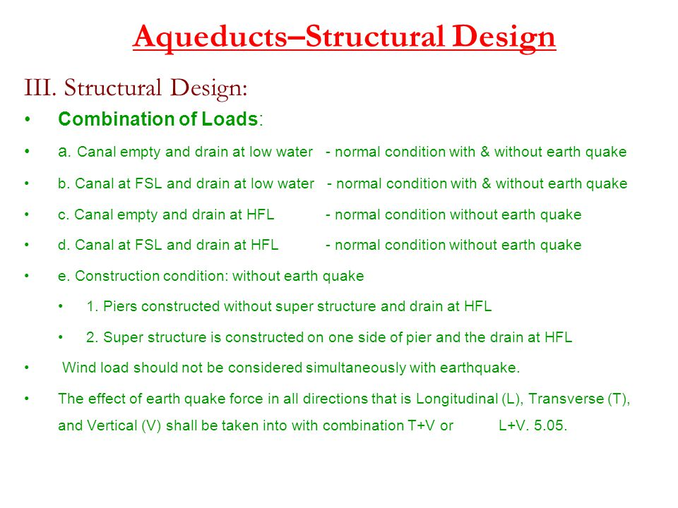 Aqueducts–Structural Design