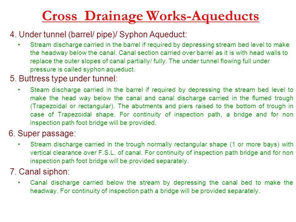 Cross Drainage Works-Aqueducts