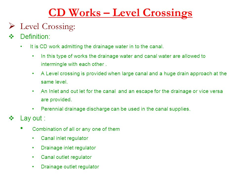 CD Works – Level Crossings