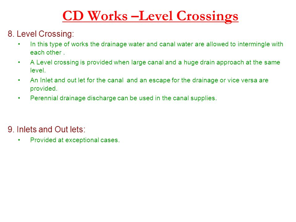 CD Works –Level Crossings