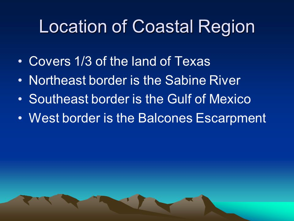 Location of Coastal Region