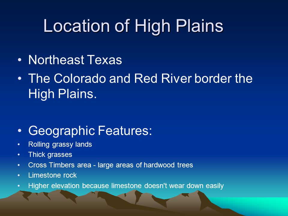 Location of High Plains