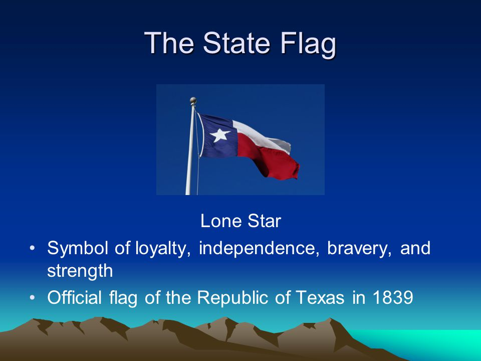 The State Flag Lone Star