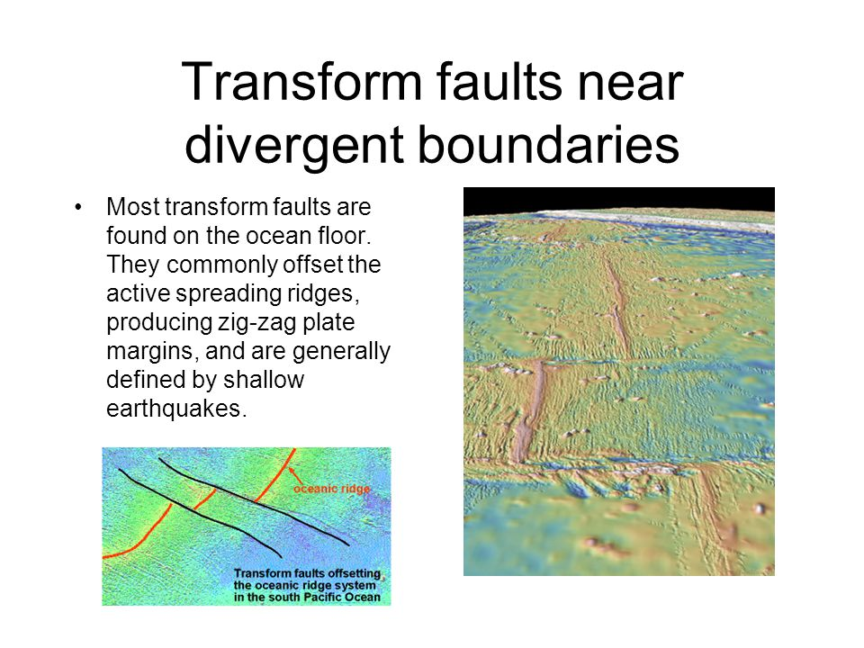 Transform faults near divergent boundaries