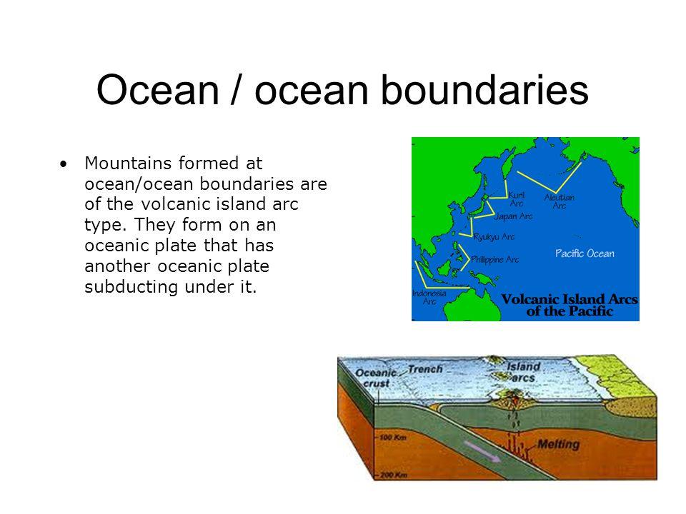Ocean / ocean boundaries