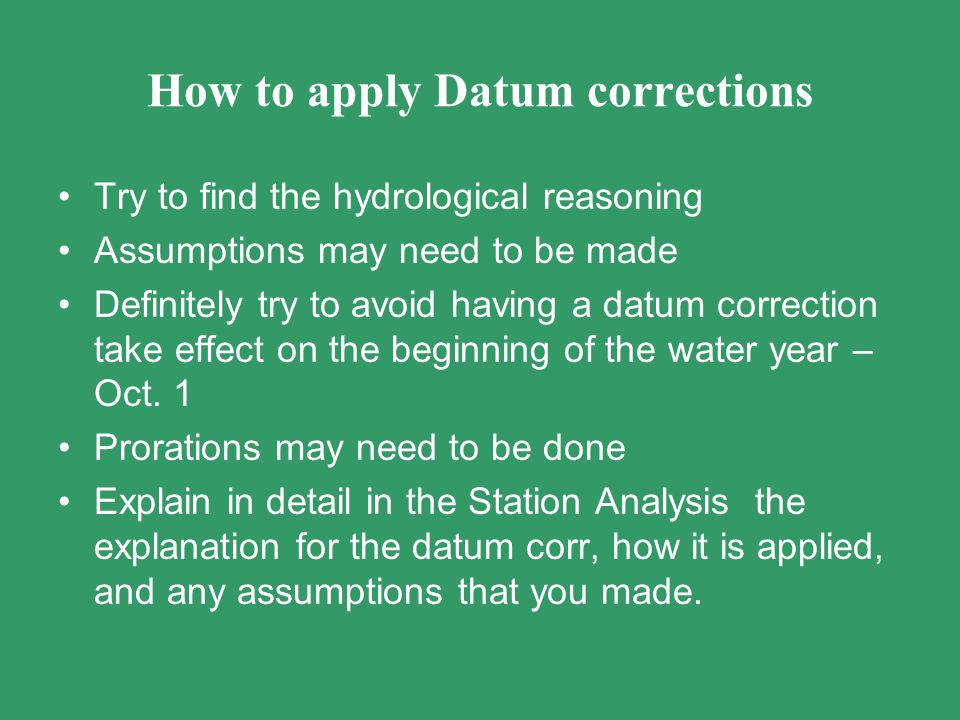 How to apply Datum corrections