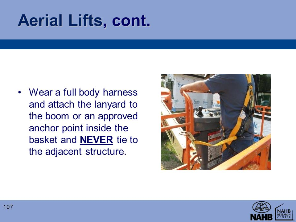 Aerial Lifts, cont.