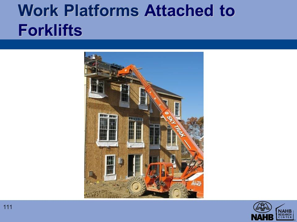 Work Platforms Attached to Forklifts
