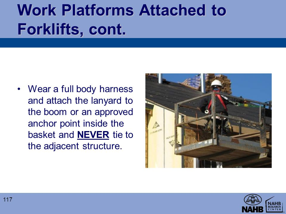 Work Platforms Attached to Forklifts, cont.