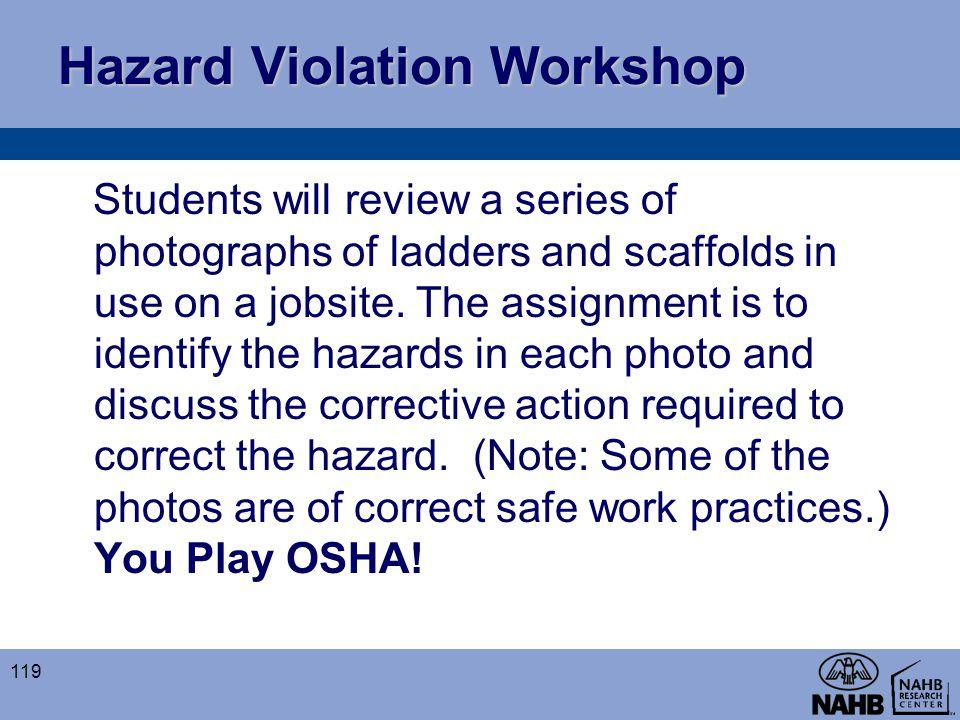 Hazard Violation Workshop