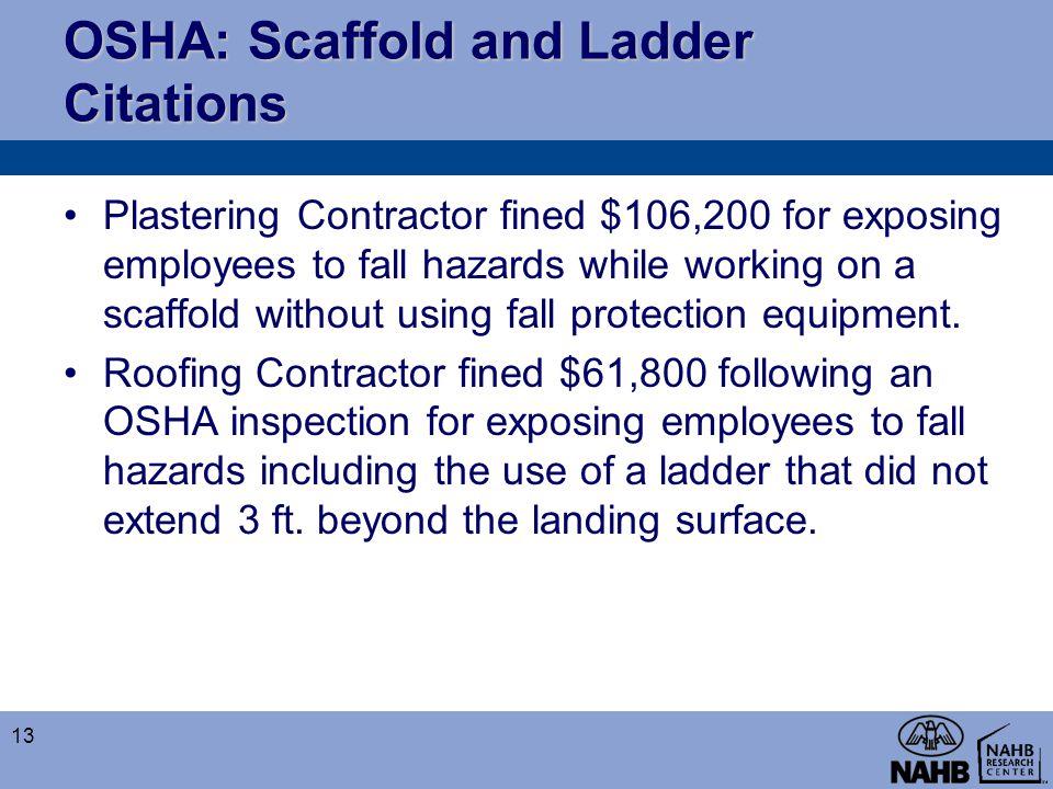 OSHA: Scaffold and Ladder Citations