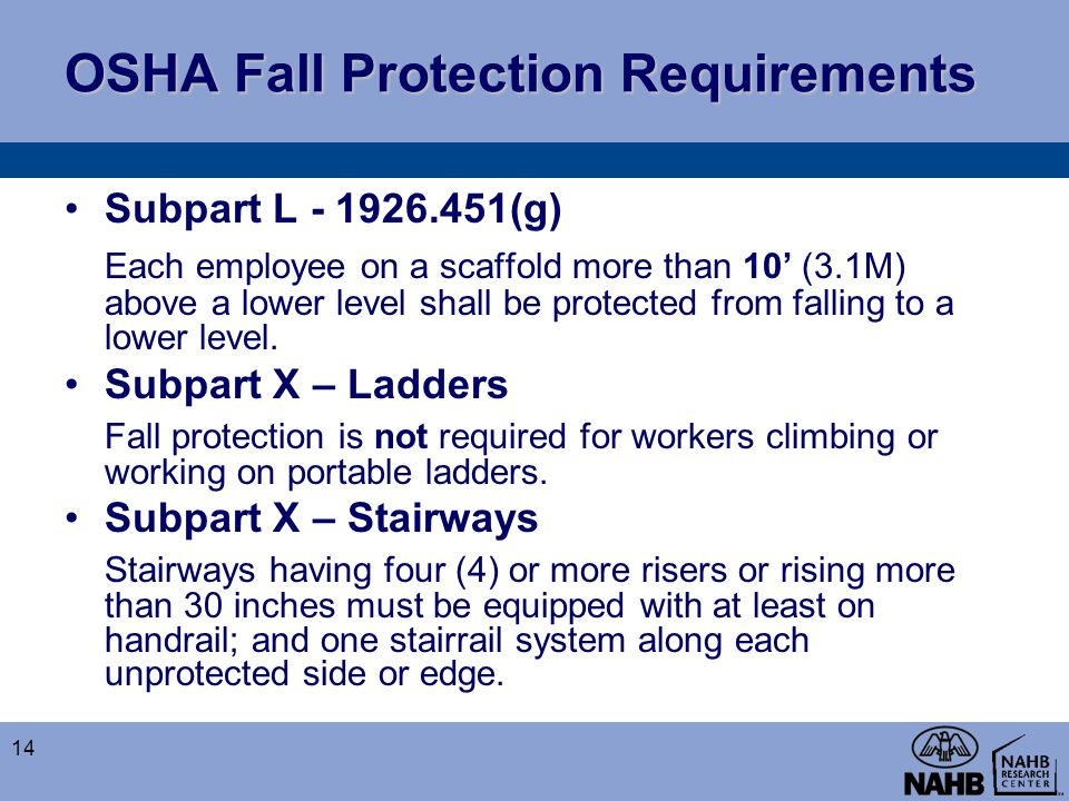 OSHA Fall Protection Requirements