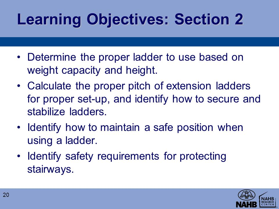 Learning Objectives: Section 2