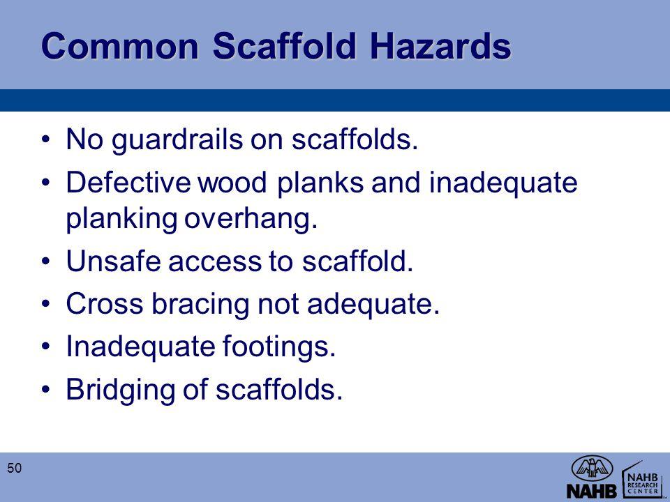 Common Scaffold Hazards