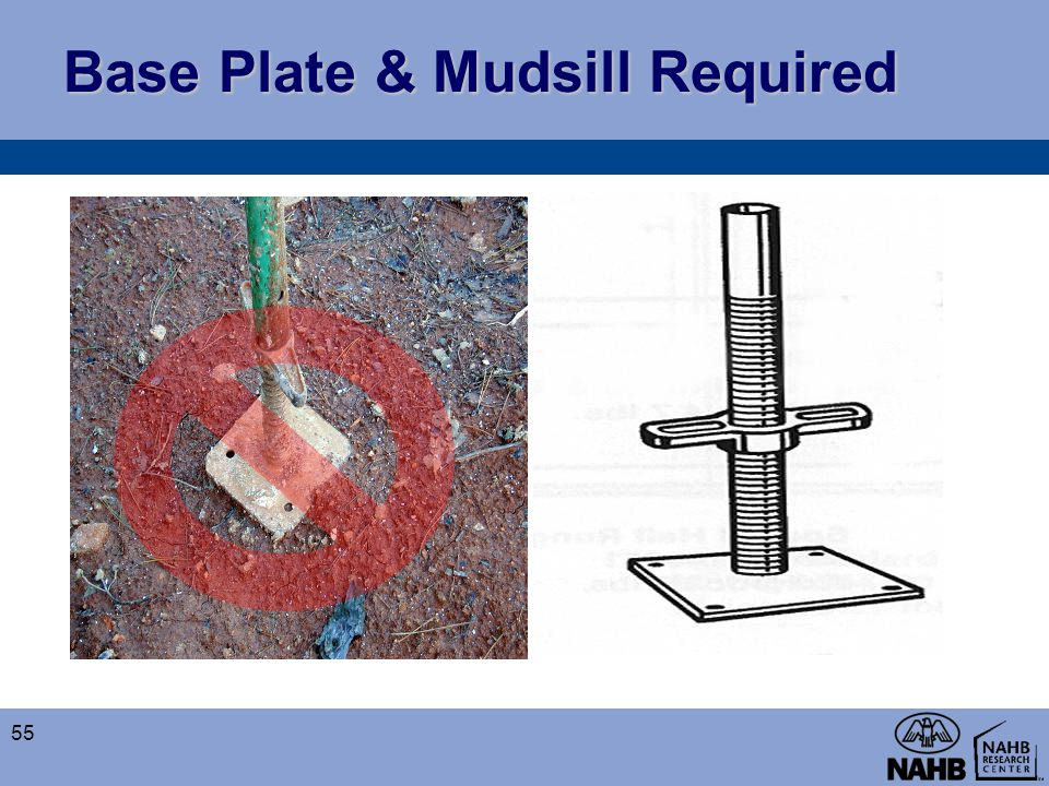 Base Plate & Mudsill Required