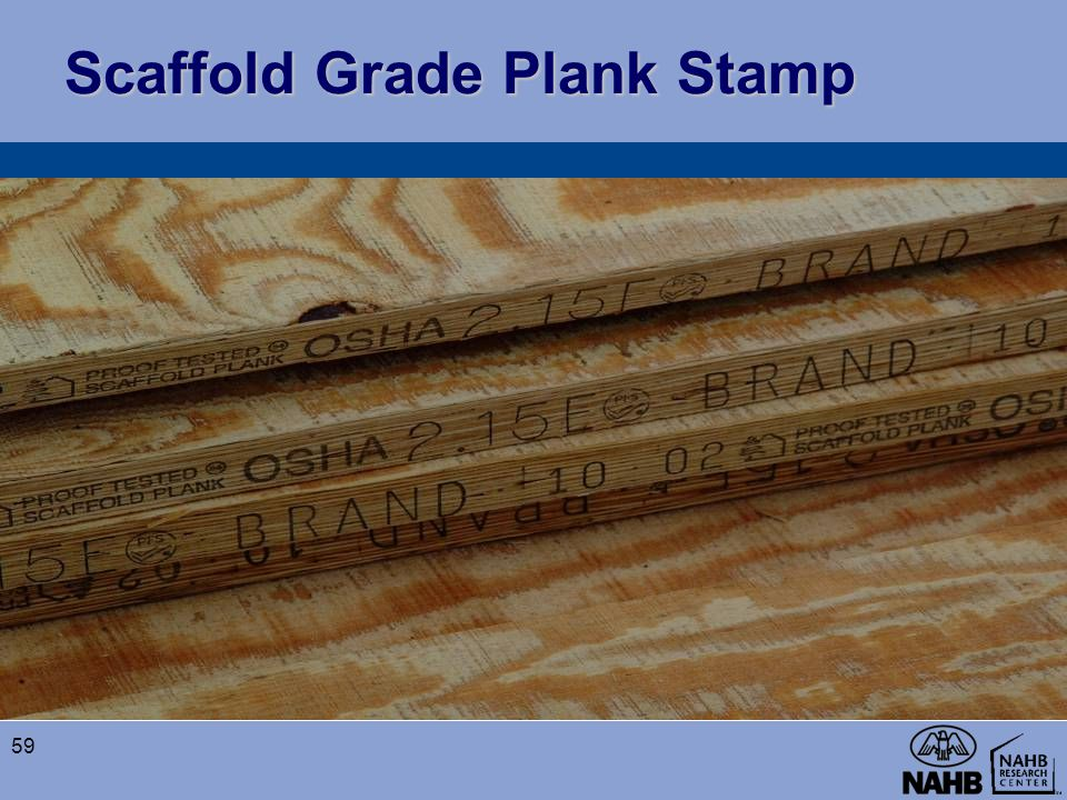 Scaffold Grade Plank Stamp