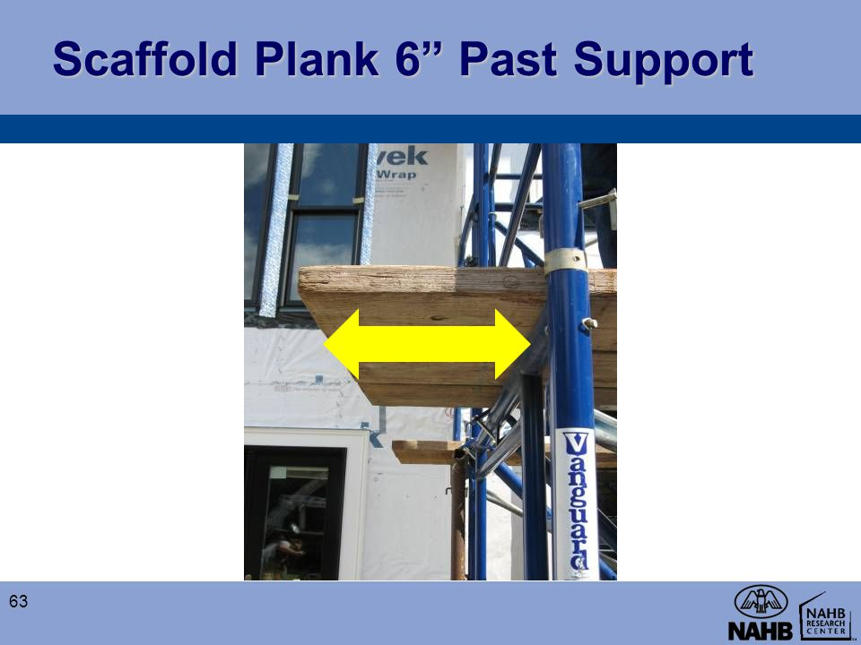 Scaffold Plank 6 Past Support