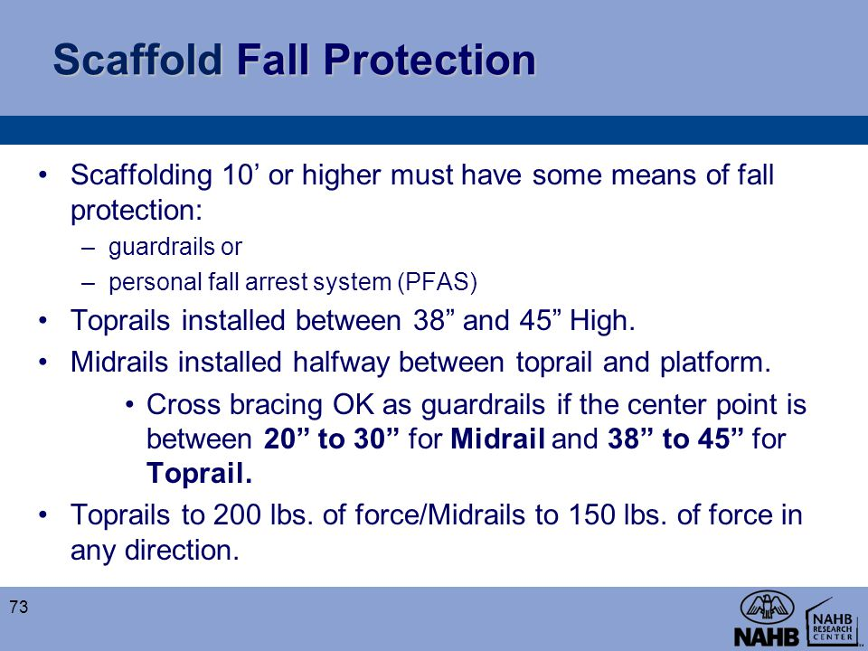 Scaffold Fall Protection