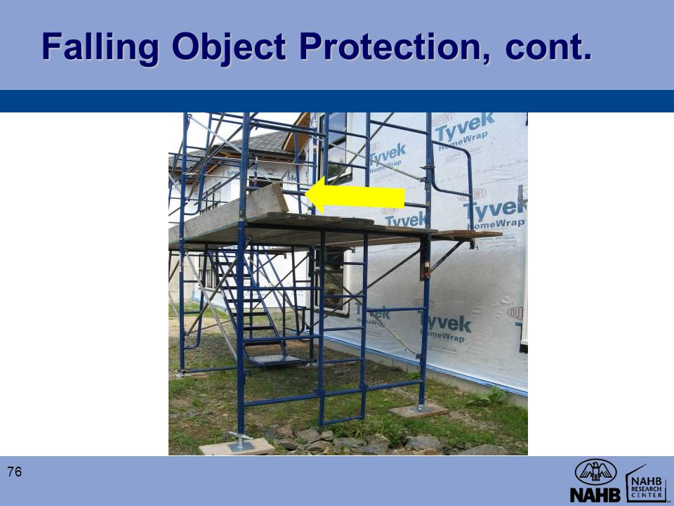 Falling Object Protection, cont.
