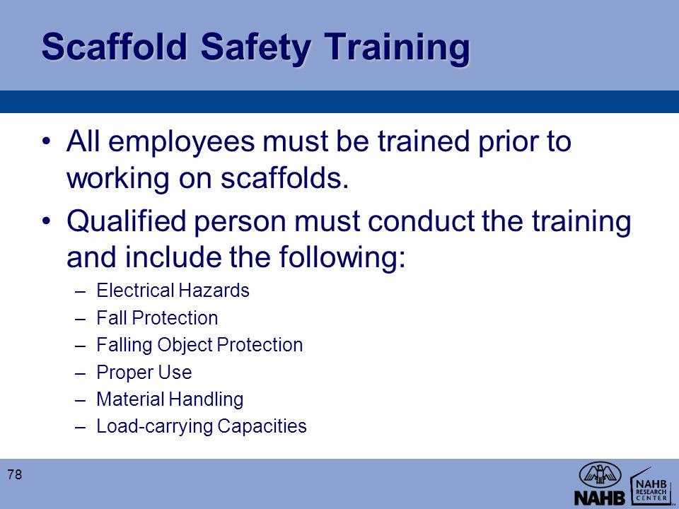 Scaffold Safety Training