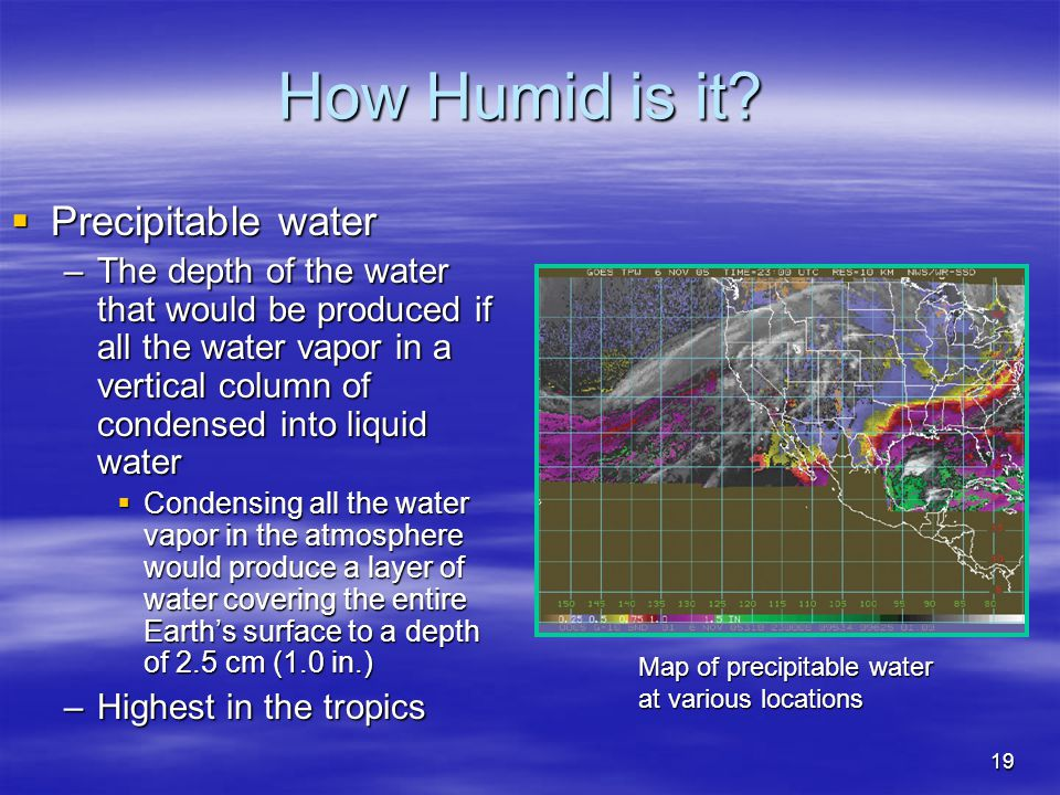 How Humid is it Precipitable water