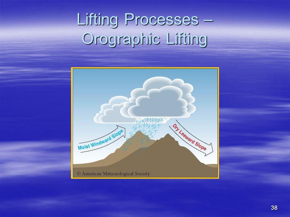Lifting Processes – Orographic Lifting