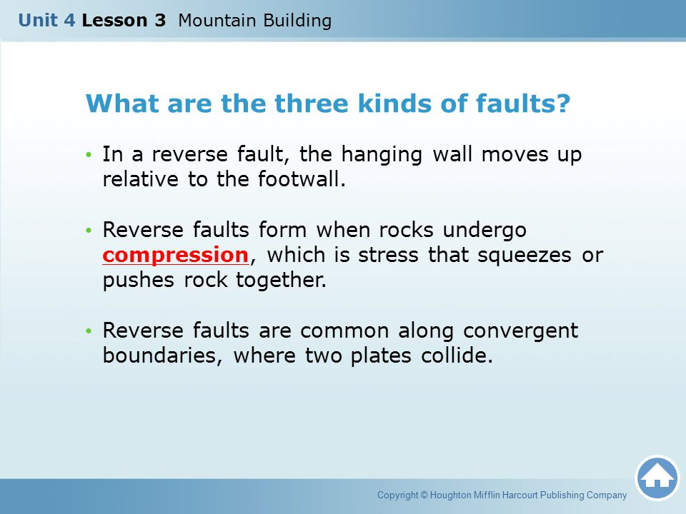 What are the three kinds of faults
