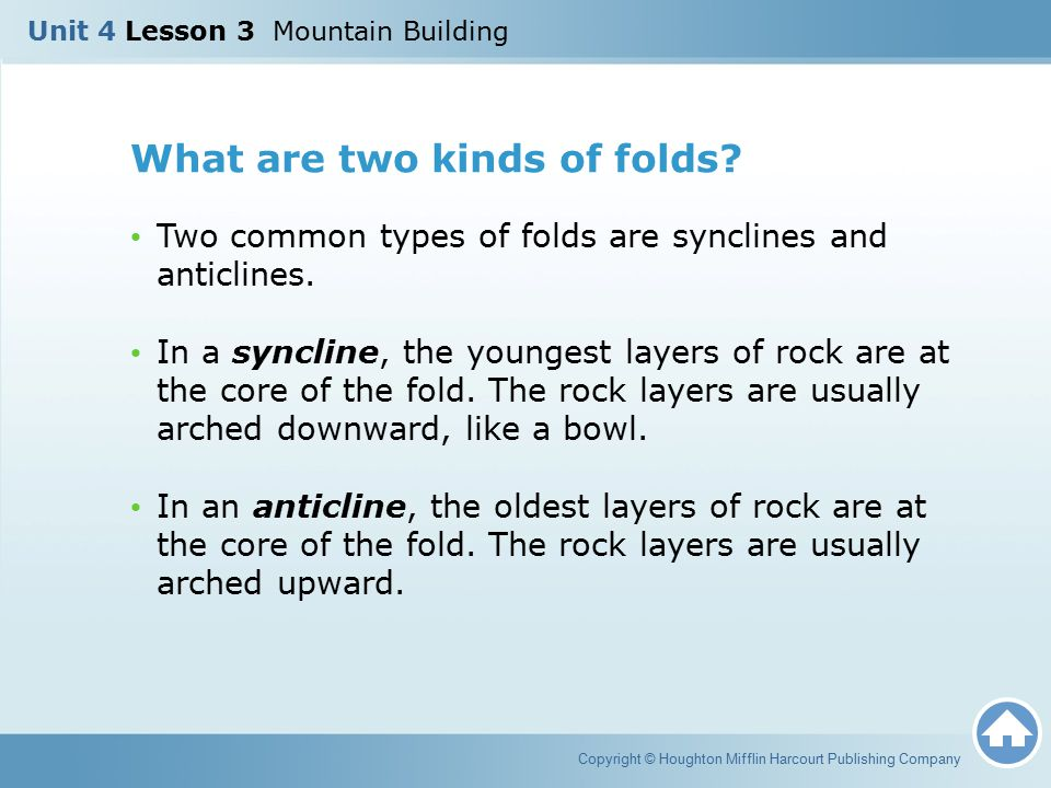 What are two kinds of folds