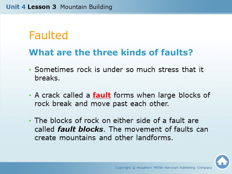 Faulted What are the three kinds of faults