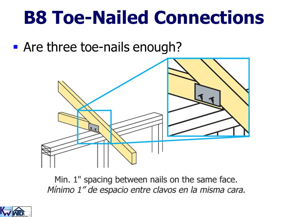 B8 Toe-Nailed Connections
