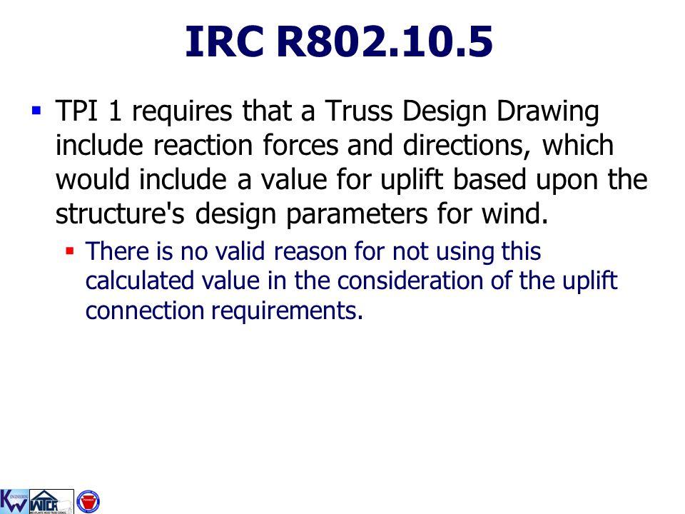 IRC R802.10.5