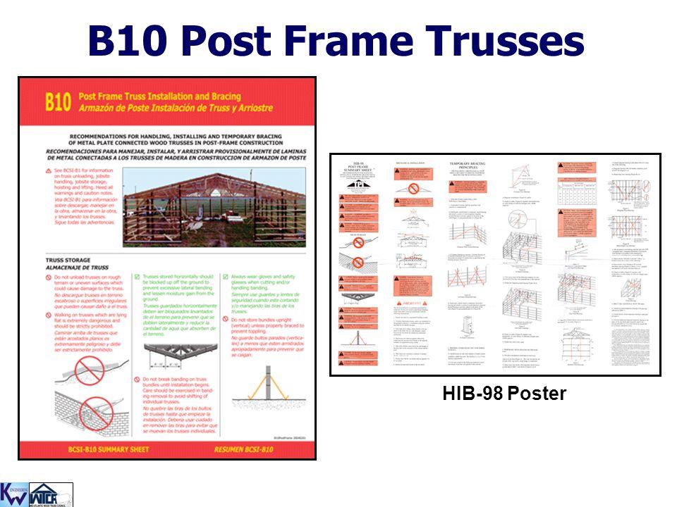B10 Post Frame Trusses HIB-98 Poster