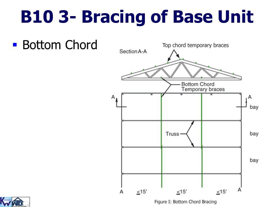 B10 3- Bracing of Base Unit Bottom Chord