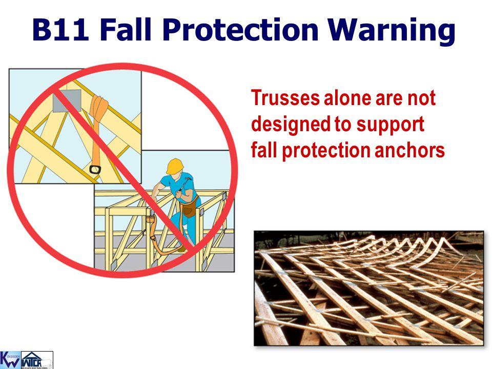 B11 Fall Protection Warning