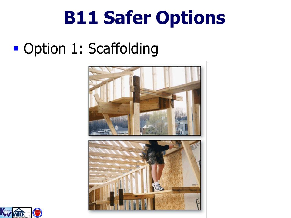 B11 Safer Options Option 1: Scaffolding