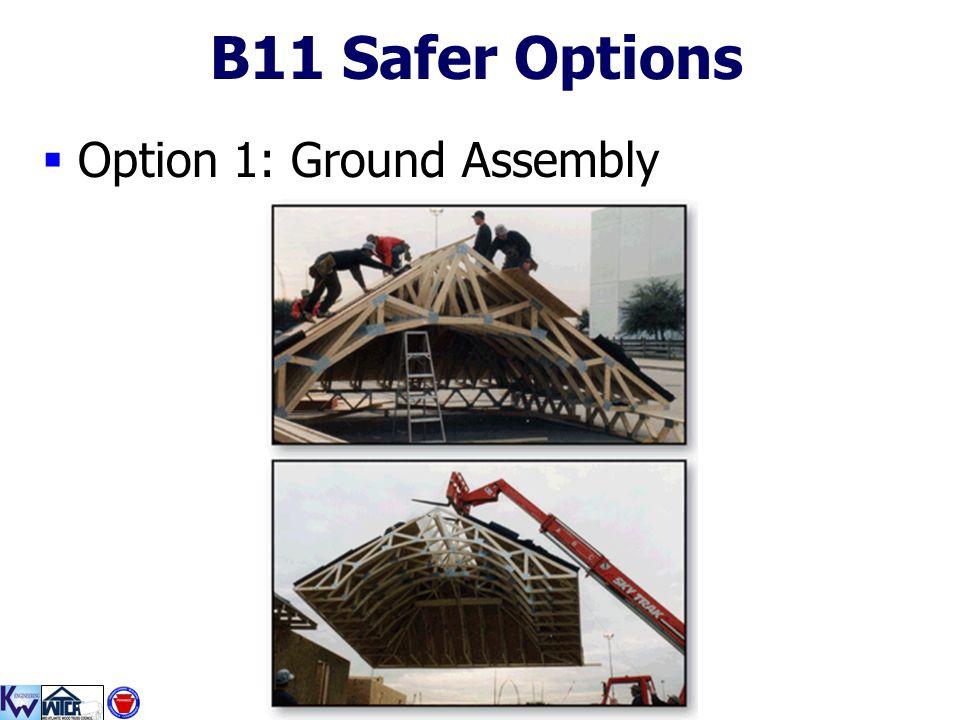 B11 Safer Options Option 1: Ground Assembly