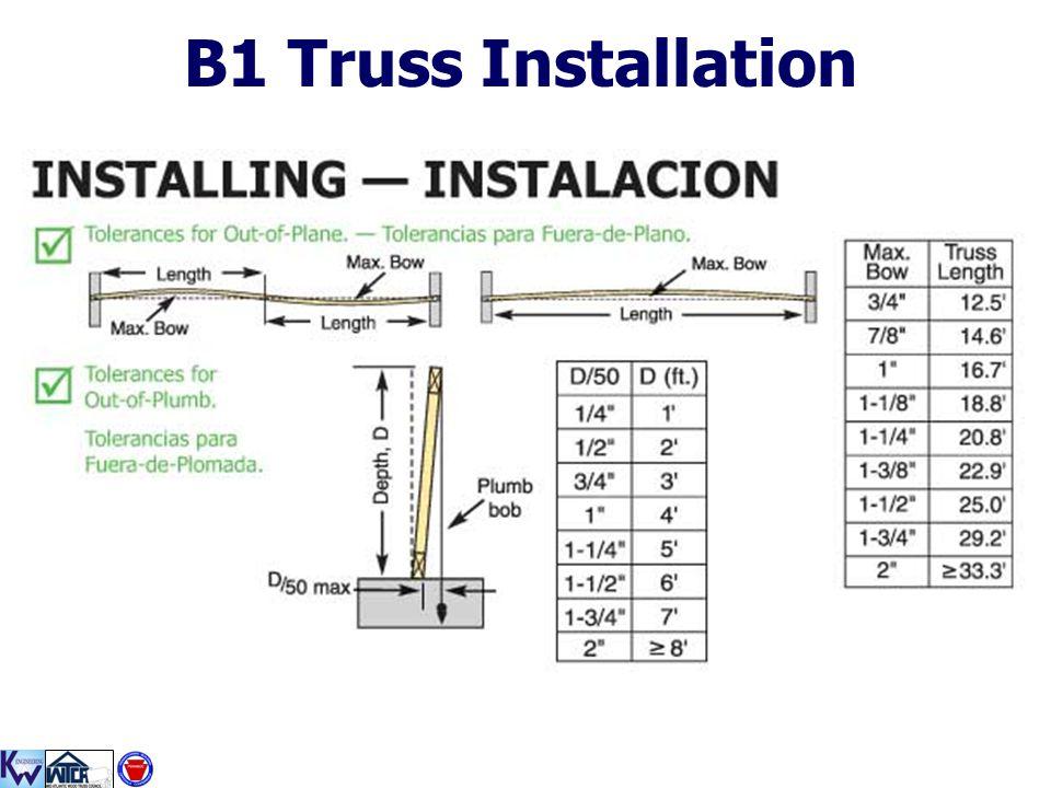 B1 Truss Installation